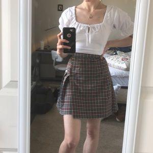 Dresses & Skirts - VINTAGE PLAID PLEATED SKIRT!!!